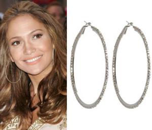 elegant large hoop earrings