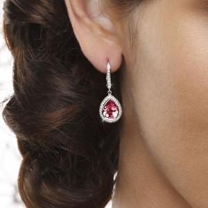 elegant pink sapphire earrings