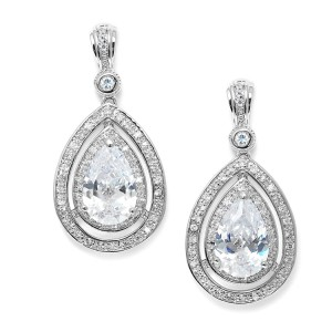 elegant vintage wedding earrings