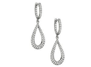 exquisite diamond dangle earrings