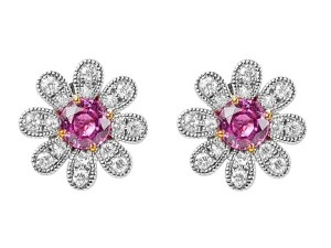 exquisite pink diamond earrings