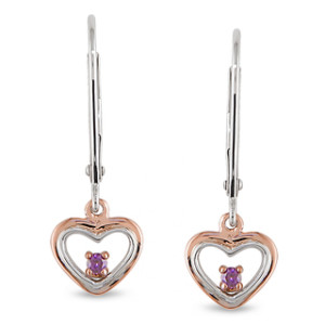 fashionable pink diamond earrings