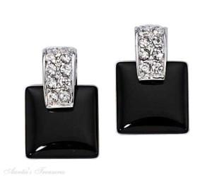 gorgeous black cubic zirconia earrings