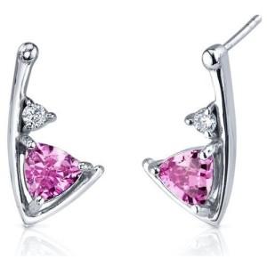 modern bridal pink diamond earrings