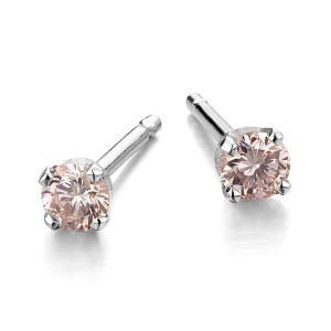natural pink diamond earrings