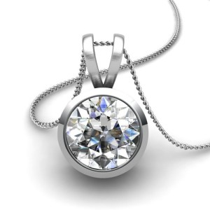 simple design solitaire diamond pendant