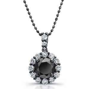 sophisticated black diamond pendant
