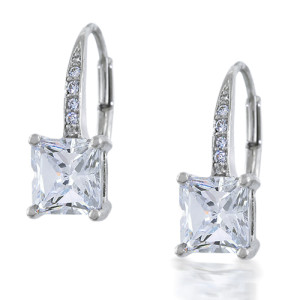sophisticated diamond leverback earrings