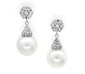 sophisticated pearl wedding earrings