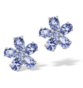 stunning sterling silver tanzanite earrings